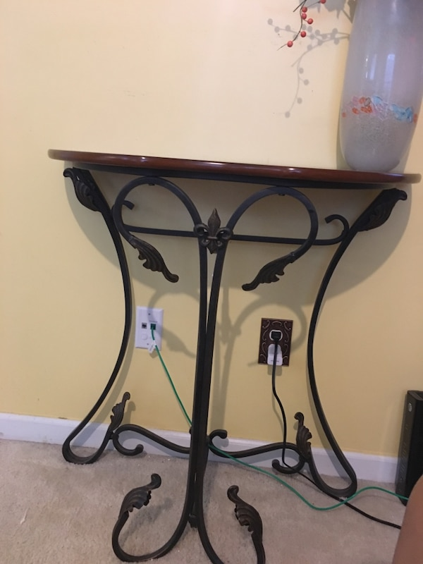 Wall Table And Mirror Set