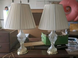 Two Angel Top Table Lamps