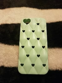 quilted green and black heart iPhone case Norwalk, 90650
