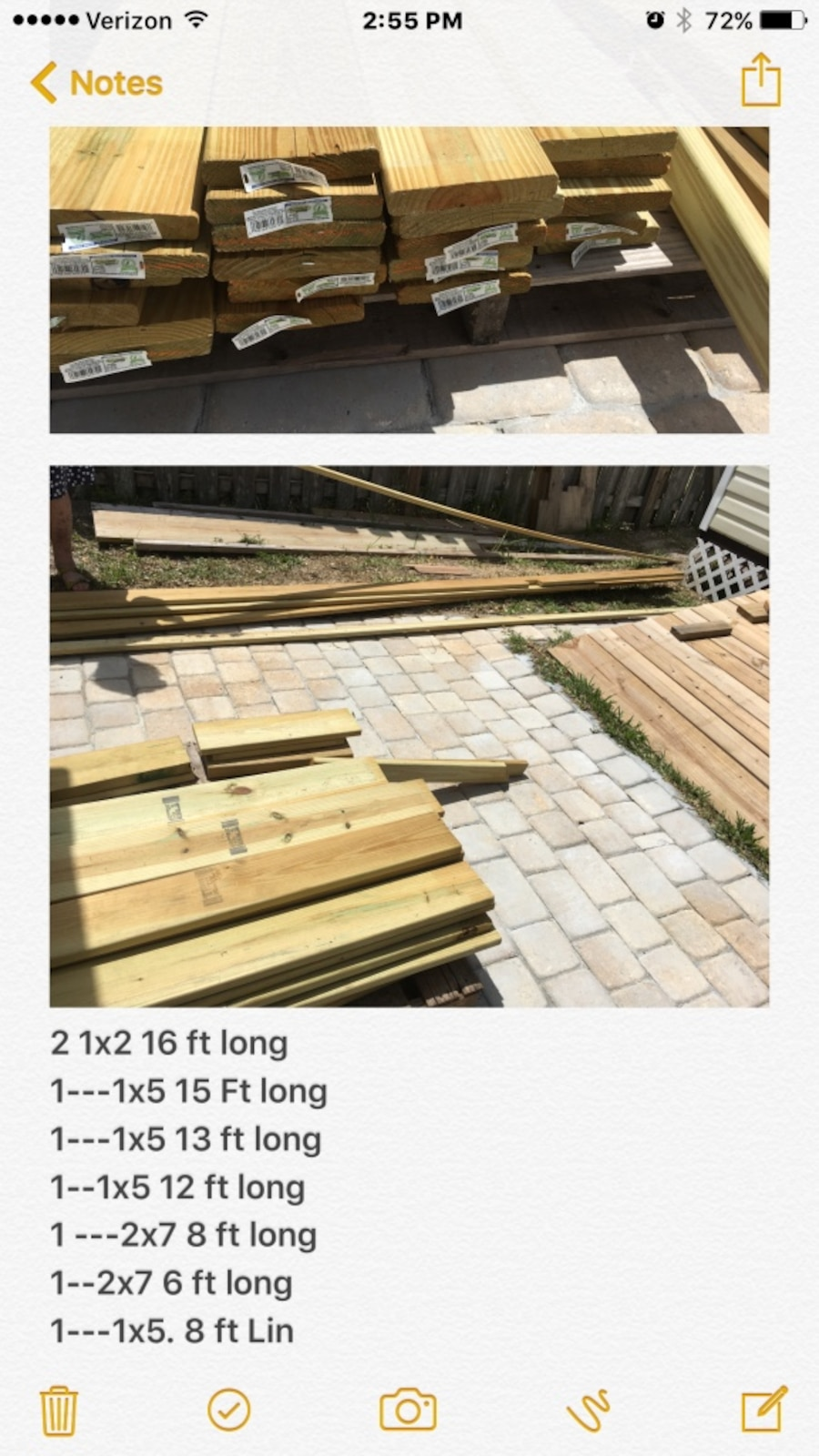 Treated wood lot - FL