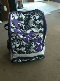 purple and white floral backpack Lizella, 31052