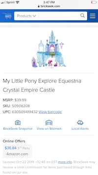 My little pony castle Baltimore, 21224