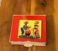 2 Vintage Animated Boxes Wax Matches Made in Italy  Frederick