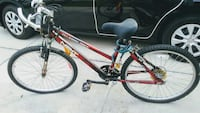 red many featuresl mountain bike