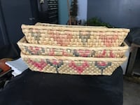 3 Tray Style Baskets with Beautuful Pattern