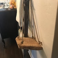 Hanging Wood plant stand with rope  DeLand, 32724