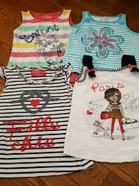 4 sleeveless shirts for girls  Laval, H7P 5W2