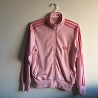 Baby pink adidas track suite jacket