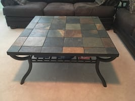 3 pc. Slate coffee table & 2 end tables