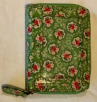 Green and white floral wristlet by Cath Kidston