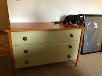 White and brown wooden 3 drawer  Baltimore, 21230