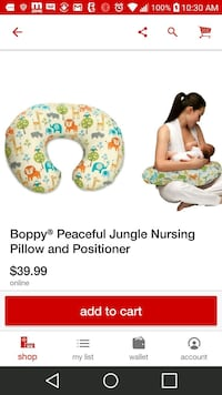 Boppy nursing and positiner pillow El Paso, 79936
