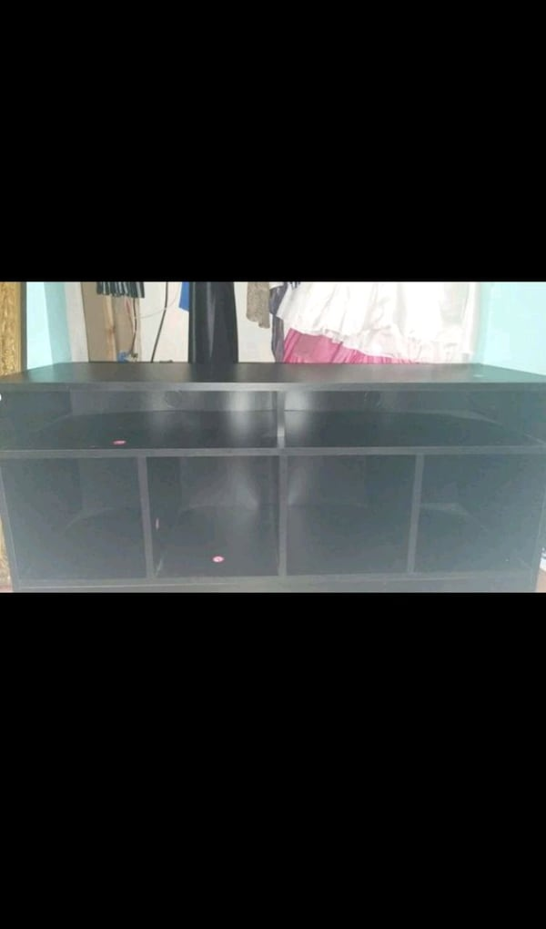 Used Tv Stand With Cubby Holes For