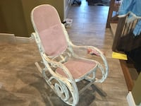 white and pink rocking chair London, N6K 4V3
