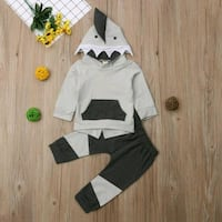 Baby Shark Style 2pc Outfit Stockbridge, 30281