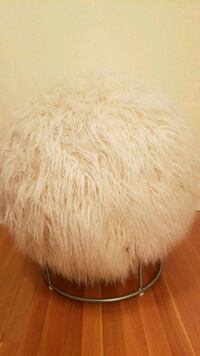 Exercise ball chair with faux fur cover Boston
