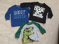 Lot of 3 - Carter's long sleeve baby boy shirts - size 6m Halton Hills, L7G 0H7