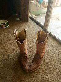 pair of brown leather cowboy boots San Angelo, 76904