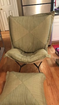 Identical 2 chairs with ottoman