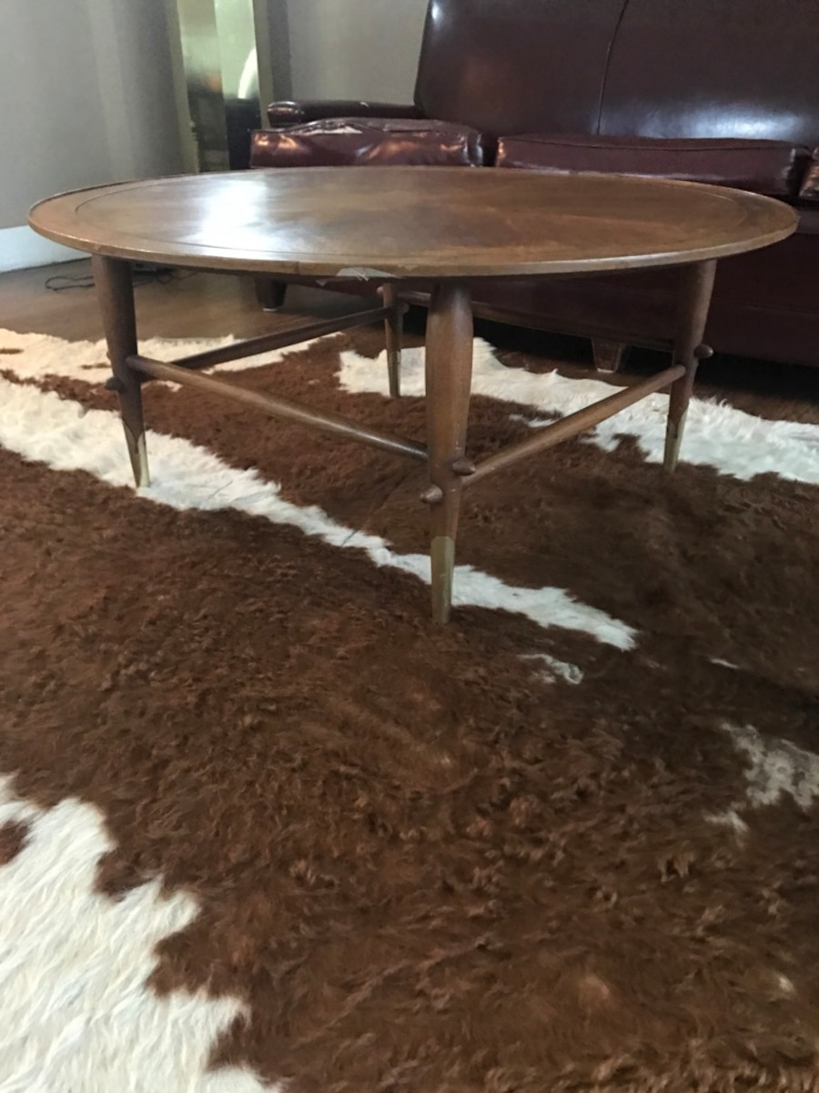 Used Mid Century Modern Round Coffee Table In Oklahoma City