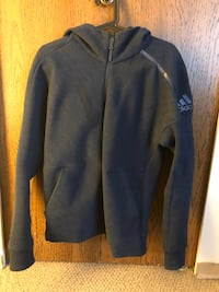 NEW.  Men's adidas Z.N.E. Road Trip Hoodie  Color: Heather Navy Richmond, V6Y 2Y7