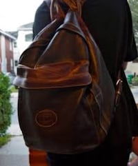 black and brown leather backpack Toronto, M6G