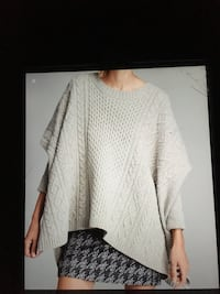 Never worn Marc by Marc Jacobs  Frida cable knit sweater colour Oyster melange size one size Oakville, L6K 1Y8