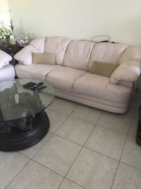 Real leather Couch and loveseat  Fort Lauderdale, 33308
