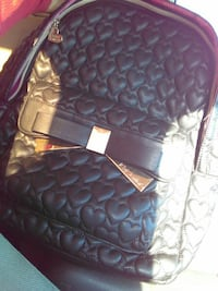 Betsey johnshon black leather quilt backpack North Las Vegas, 89032