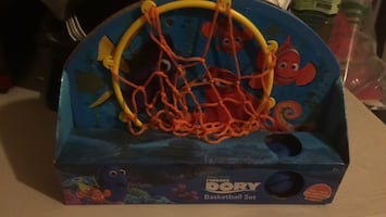 Baby's red and blue activity gym