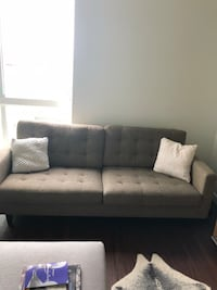 Modern tweed couch for sale. As is Los Angeles, 90012