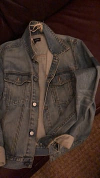 blue denim button-up jacket 463 km