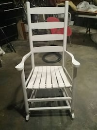 White wood rocking chair Hickory