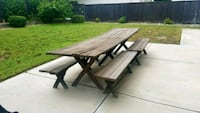 """Solid Wood Picnic Table 10 x 2'8"""""""