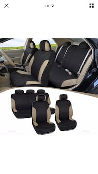 Black and beige car seat covers for Hyundai 2013  San Diego, 92109