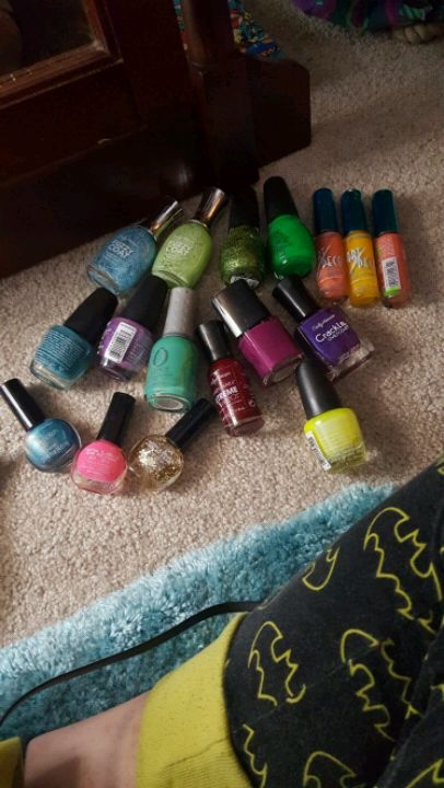 six assorted color nail polish bottles for sale  Jefferson