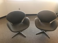 Room and Board swivel chairs with aluminum base Albuquerque