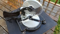 black and stainless steel miter saw