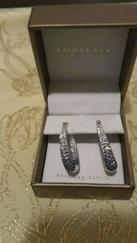 Sterling Silver and Crystal! Earrings. Oxon Hill