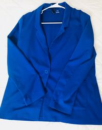 blue notch lapel suit jacket Chantilly, 20151
