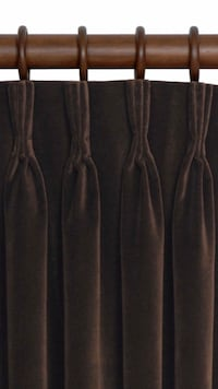 1 Pair  - Velvet Pinch Pleat - 120 Long - Blackout Panels New Orleans, 70113