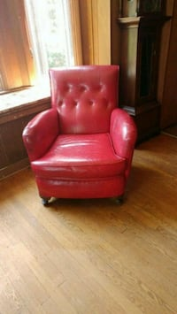 red leather tufted sofa chair Rockville, 20853