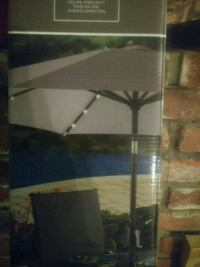 Gray 9Ft Solar Umbrella Norwalk, 90650
