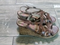 Jellypop brown strappy wedge shoes Houston, 77091