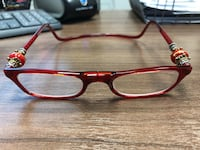 Trendy Clic reading glasses, red
