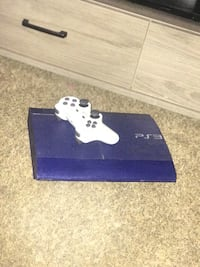 PS3 with controller and hook ups