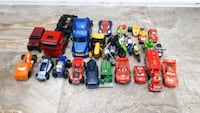 25 piece trucks, cars and motorcycle lot Aurora