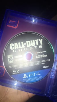 PS4 Call of Duty Ghosts disc Toronto, M1P 2B7