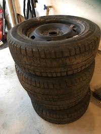 Four Ford Fusion winter tires with Rims. Used only one day Brampton, L6Y 6E7