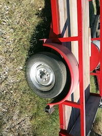 Fire engine red new tires new lights & harness 8×15